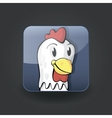 app icon chicken vector image