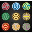 Set of colored elements for Logo design based on vector image