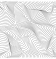 abstract dynamical rippled surface seamless patter vector image vector image