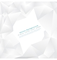 background with white triangles vector image vector image