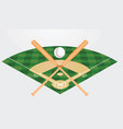 baseball field vector image