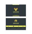 black simple elegant business card template vector image vector image