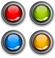 blank chrome glossy buttons vector image vector image