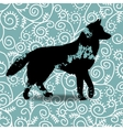 Blots silhouette of a dog vector image vector image