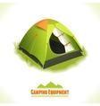 Camping symbol tent vector image vector image