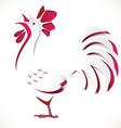 chicken paper cut vector image vector image