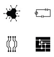 circuit board icon set vector image