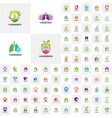 collection of lungs logo health lungs logo vector image