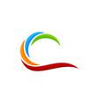 color wave logo icon design vector image