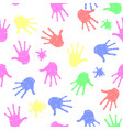 colored hands seamless pattern parts of human vector image