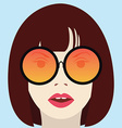 Cool hipster girl with glasses vector image vector image