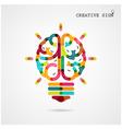 Creative infographics brain function vector image vector image