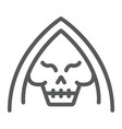 death line icon halloween and horror reaper sign vector image vector image