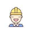 engineer icon worker workman vector image