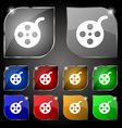 Film icon sign Set of ten colorful buttons with vector image