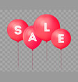 flying balloons concept of sale for shops four vector image vector image