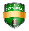 Football Shield badge vector image