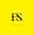 fs letter logo with vintage grundge drawing vector image vector image