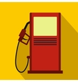 Gas station icon flat style vector image vector image