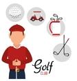 golf club golfer avatar vector image vector image