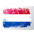 grunge and distressed flag netherlands vector image vector image
