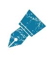 Grunge ink pen nib icon vector image vector image