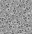 Hand drawn seamless Paisley pattern Doodle style vector image vector image