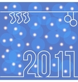 happy new 2017 with bokeh and flare vector image vector image