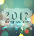 Happy New Year 2017 on Bokeh Light Vintage vector image