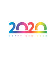 happy new year 2020 logo text designbrochure vector image