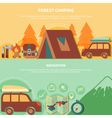 Hiking Equipment And Navigation Accessories For vector image vector image