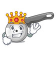 king pizza cutter knife isolated on mascot vector image vector image