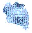 koh phangan thai island map population vector image vector image