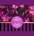 luxury card with orchid and calla flowers vector image vector image