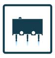 Micro button icon icon vector image