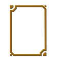 modern golden frame vector image vector image