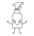 monochrome cartoon silhouette of spray cleaner vector image