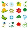 natural design elements vector image vector image