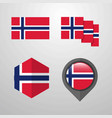 norway flag design set vector image