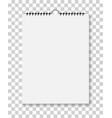 notepad with spiral bound wall calendar mockup vector image