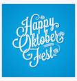 oktoberfest logo vintage lettering background vector image vector image