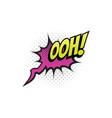 ooh cartoon comic book sound pop cloud blast vector image vector image