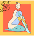 outline woman body on abstract vector image vector image