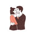 pair passionate lovers on date young stylish vector image vector image