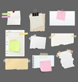paper sheet pieces for notes and reminders vector image
