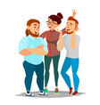 people group taking photo laughing friends vector image