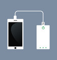 phone charging and power bank vector image vector image