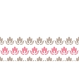 Pink and brown tulips stripes horizontal seamless vector image