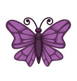 purple colored small butterfly vector image vector image