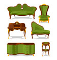 retro old decorative furniture for living room vector image vector image